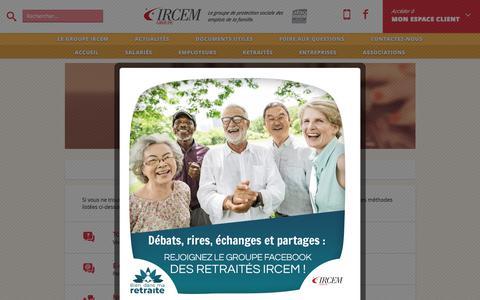 Screenshot of Contact Page ircem.com - Contact - Ircem.com - Portail des services à la personne et à la famille - captured Sept. 22, 2018