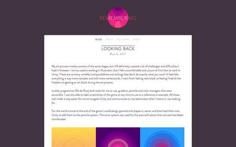 Screenshot of Blog rememberingthegame.com - BLOG — Remembering - captured Oct. 25, 2018
