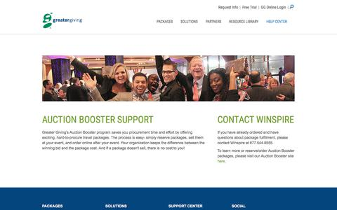 Auction Booster - Support Center | Greater Giving - Greater Giving