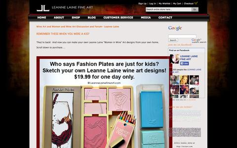 Screenshot of Blog leannelainefineart.com - Women and Wine Art Discussion and Forum- Leanne Laine - captured Oct. 1, 2014