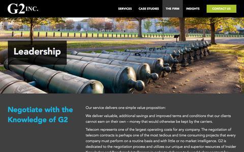 Screenshot of Team Page g2inc.com - Leadership & Staff | G2 INC - captured July 14, 2018