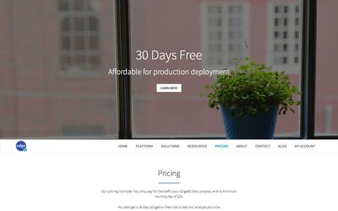 Screenshot of Pricing Page edge80.com - Edge80 :: Pricing - captured Aug. 12, 2015