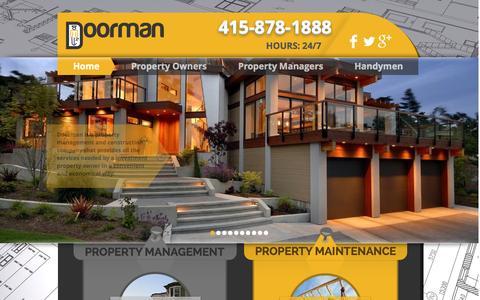 Screenshot of Home Page doormansf.com - doorman - captured Jan. 24, 2015