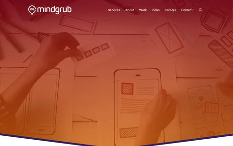 Screenshot of Home Page mindgrub.com - iPhone, Android, Web App Developer - Baltimore | Mindgrub - captured June 18, 2018
