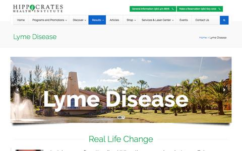 Screenshot of hippocratesinst.org - Lyme Disease - Hippocrates Health Institute - captured Nov. 10, 2017