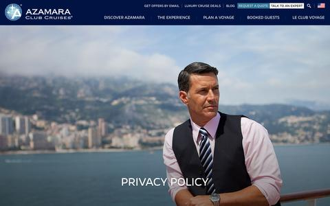 Screenshot of Privacy Page azamaraclubcruises.com - Privacy Policy | Azamara Club Cruises - captured Dec. 27, 2015