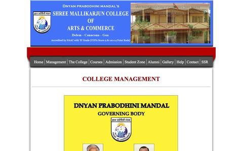 Screenshot of Team Page shreemallikarjuncollege.in - Management - captured June 23, 2016