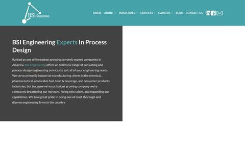 Screenshot of About Page bsiengr.com - The Core Foundation & Principles | BSI Engineering Inc. - captured May 25, 2019