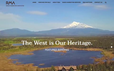 Screenshot of Home Page rmabrokers.com - Farm and Ranch Realty - Luxury Ranches For Sale - captured Sept. 19, 2018