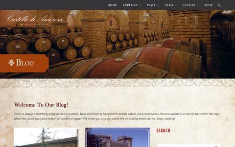 Screenshot of Blog castellodiamorosa.com - Castello di Amorosa Napa Valley Food, Wine & Winemaking Blog - captured Sept. 19, 2018