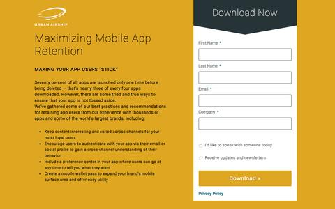 Maximizing Mobile App Retention