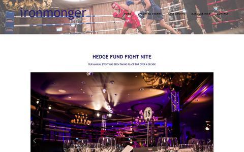 Screenshot of Press Page ironmongerevents.com - Hedge Fund Fight Nite — Ironmonger EVENTS - captured June 8, 2017