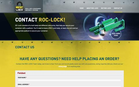 Screenshot of Contact Page roc-lock.com - Contact us | Roc-Lock - captured Sept. 30, 2014