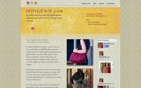 Screenshot of Home Page indigenie.com captured Sept. 30, 2014