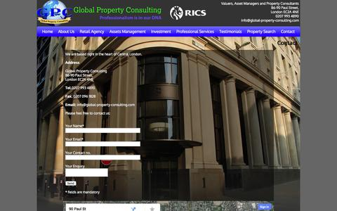 Screenshot of Contact Page global-property-consulting.com - Global Property Consultants | Global Property Consulting - captured Sept. 30, 2014