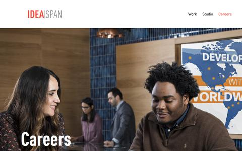 Screenshot of Jobs Page idea-span.com - Careers – Idea|Span - captured Sept. 20, 2018