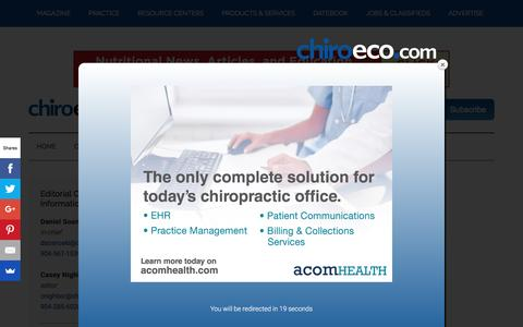 Contact Us   Chiropractic Economics