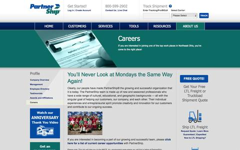 Screenshot of Jobs Page partnership.com - Careers | PartnerShip - captured Oct. 10, 2014