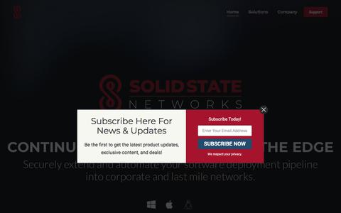 Screenshot of Home Page solidstatenetworks.com - Home - Solid State Networks - captured Jan. 13, 2020