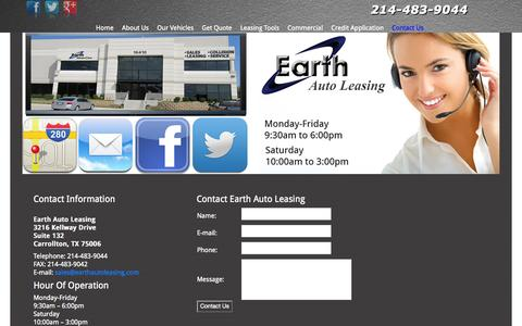 Screenshot of Privacy Page Contact Page earthautoleasing.com - Contact Us - captured Oct. 22, 2014