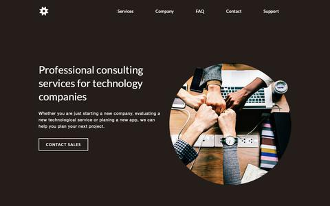 Screenshot of Services Page pinion.ph - Consulting — Pinion Software - captured Sept. 28, 2018
