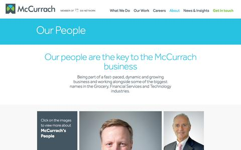 Screenshot of Team Page mccurrach.co.uk - Our People | McCurrach - captured June 10, 2017