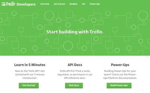 Screenshot of Developers Page trello.com - Trello Developers - captured Jan. 20, 2016