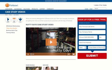Screenshot of Case Studies Page fishbowlinventory.com - Case Study Videos   Fishbowl Inventory - captured Oct. 10, 2014