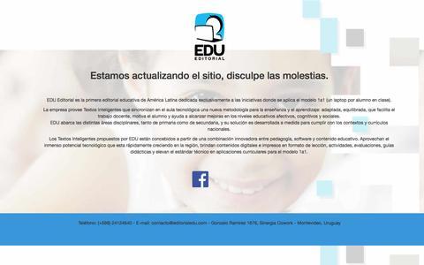 Screenshot of Home Page editorialedu.com - EDU Editorial - captured Oct. 8, 2014