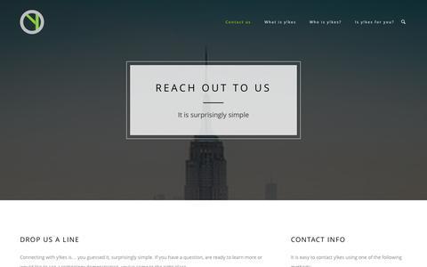 Screenshot of Contact Page yikes.co - Contact Us   yikes - captured Nov. 5, 2014