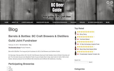 Screenshot of Blog bcbeerguide.ca - Blog      BC Beer Guide   Your Guide to BC Craft Beer - captured Sept. 30, 2014