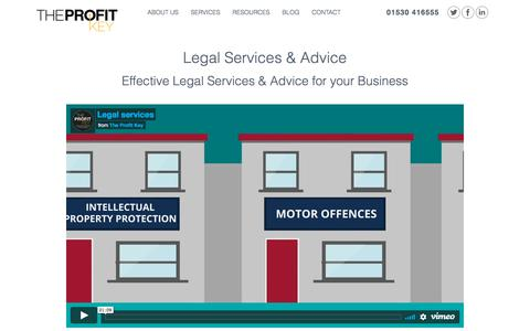 Screenshot of Terms Page theprofitkey.co.uk - Legal Services & Legal Advice | The Profit Key - captured Nov. 17, 2017