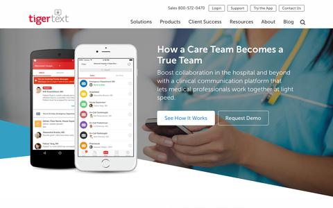 TigerText | Healthcare Clinical Communication Apps & Solutions