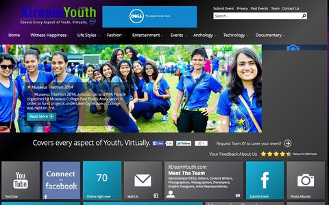 Screenshot of Home Page xtreamyouth.com - XtreamYouth - Home - captured Sept. 19, 2014