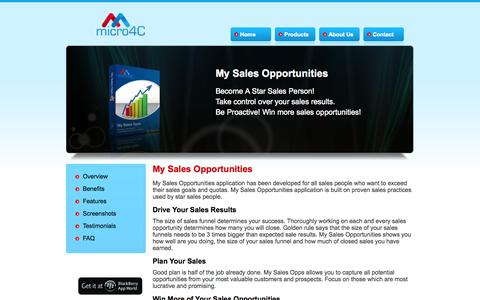 Screenshot of Products Page micro4c.com - micro4C - captured Oct. 9, 2014