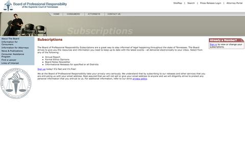 Screenshot of Signup Page tbpr.org - BOPR - [Subscriptions] - captured Oct. 26, 2014