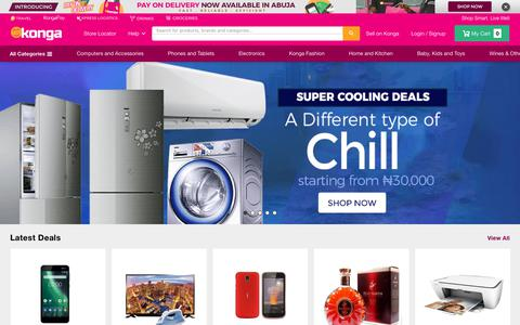 Screenshot of Home Page konga.com - Buy Phones, Fashion, Electronics in Nigeria | Konga Online Shopping - captured Feb. 23, 2019