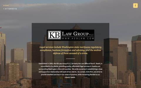 Screenshot of Home Page seattle-criminaldefense.com - KB Law Group PLLC - captured July 20, 2017