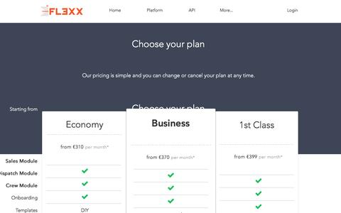 Screenshot of Pricing Page fl3xx.com - FL3XX | Biz Flight Operations Management and Scheduling Software - captured May 9, 2017