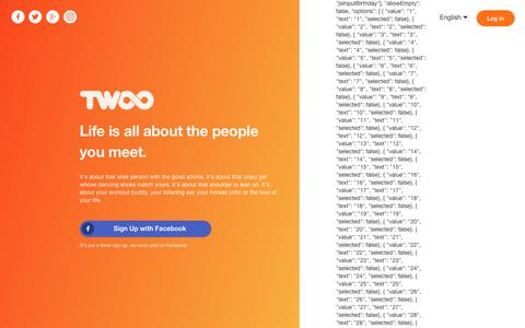 Screenshot of Home Page twoo.com - Twoo - Meet New People - captured Aug. 4, 2017