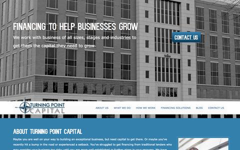 Screenshot of Home Page turningpointcap.com - Home - Turning Point Capital - captured Oct. 9, 2014