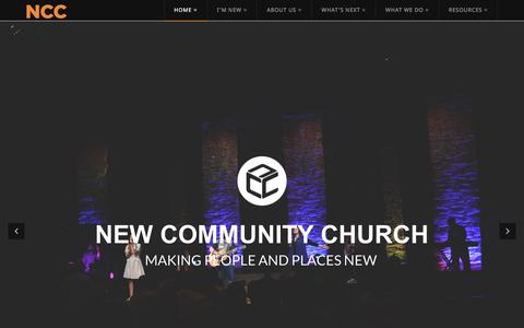 Screenshot of Home Page newcommunity.co - New Community Church | - captured Feb. 14, 2016