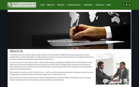 Screenshot of About Page kmacs.com - About Us - KMACS Accounting Service - captured Nov. 3, 2014