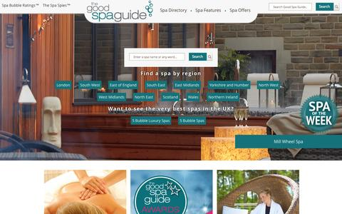 Screenshot of Home Page goodspaguide.co.uk - Your expert guide to the best spas and treatments | Good Spa Guide - captured Oct. 2, 2015