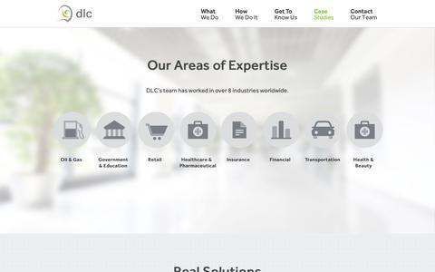 Screenshot of Case Studies Page dlc-inc.com - Case Studies | DLC - captured Nov. 13, 2018