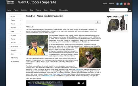 Screenshot of About Page alaskaoutdoorssupersite.com - About Us | Alaska Outdoors Supersite - Alaska Outdoors Supersite - captured Jan. 31, 2018
