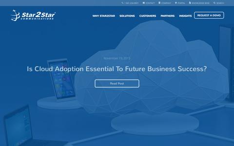 Screenshot of Blog star2star.com - Blog | Star2Star Communications - captured Nov. 26, 2015