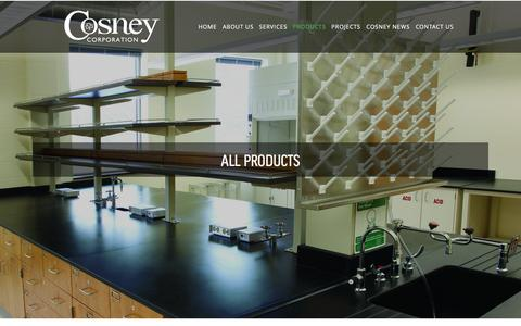 Screenshot of Products Page cosney.com - All Products — Cosney Corporation - captured Feb. 1, 2016