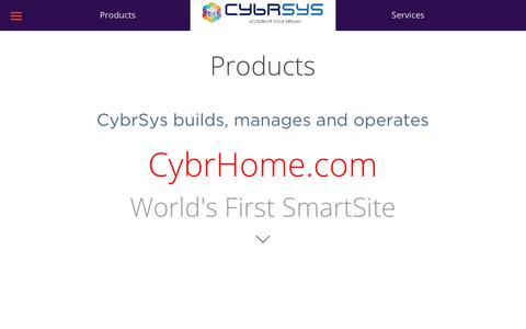 Screenshot of Products Page cybrsys.com - Products - captured July 24, 2018