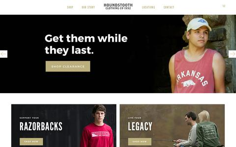 Screenshot of Home Page houndstooth.com - Houndstooth Clothing Company    <!-- Houndstooth CC --> - captured Nov. 14, 2016